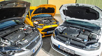 Ford Focus ST Turnier 2.0 TDCi, Peugeot 308 SW GT HDi 180, VW Golf Variant GTD