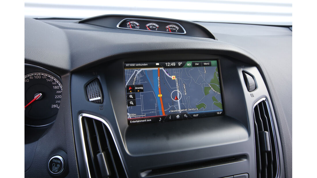 Ford Focus ST Turnier, Bildschirm, Navi