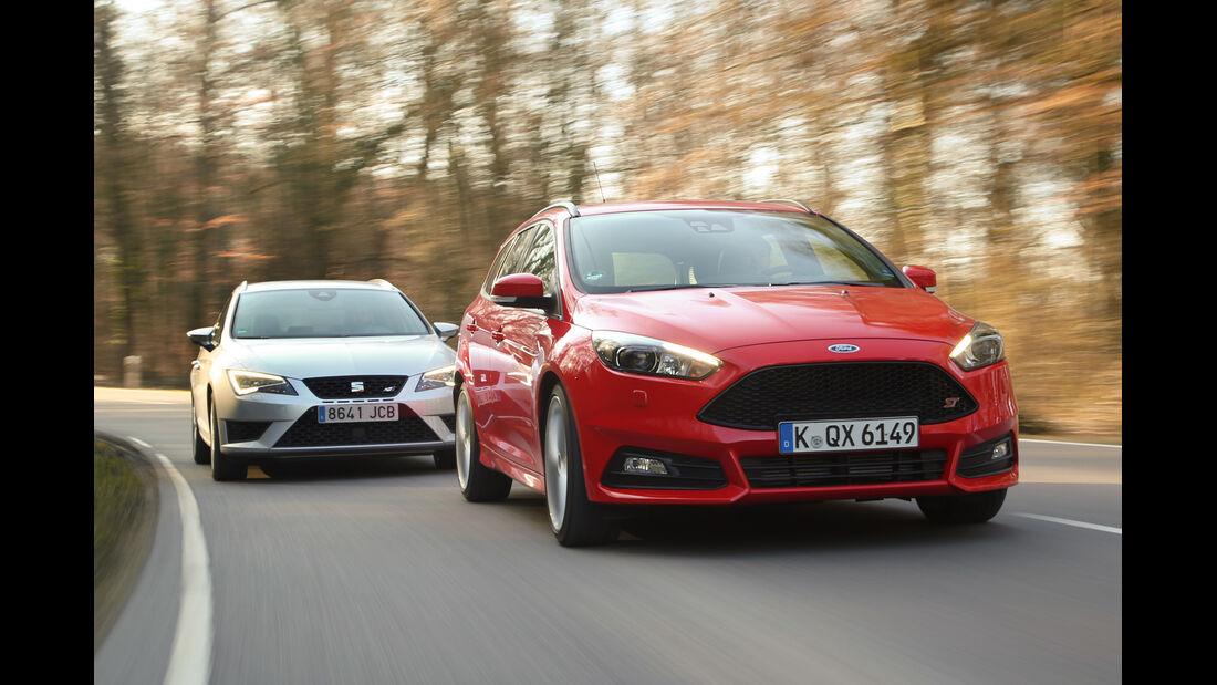 Ford Focus ST Turnier, Seat Leon ST Cupra 265, Frontansicht