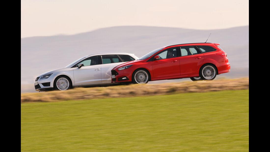 Ford Focus ST Turnier, Seat Leon ST Cupra 265, Seitenansicht