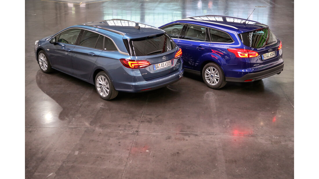 Ford Focus Turnier 1.0 Ecoboost, Opel Astra Sports Tourer 1.4 DI Turbo