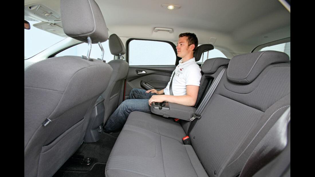 Ford Focus Turnier 1.6 Ecoboost Titanium, Rückbank, Rücksitze