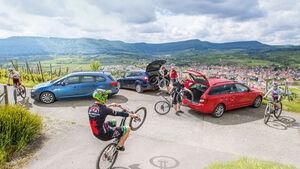 Ford Focus Turnier, Opel Astra Sports Tourer, Skoda Octavia Combi, Seitenansicht