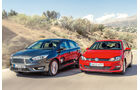 Ford Focus, VW Golf, Frontansicht