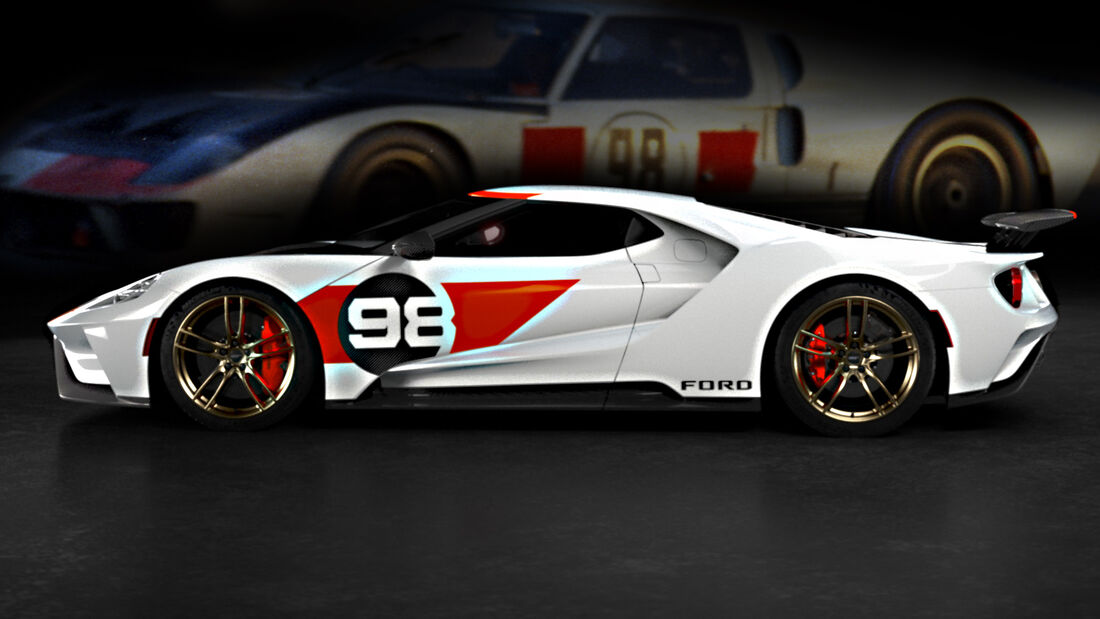 Ford GT 2021 Heritage Edition 1966 Daytona Studio Collection