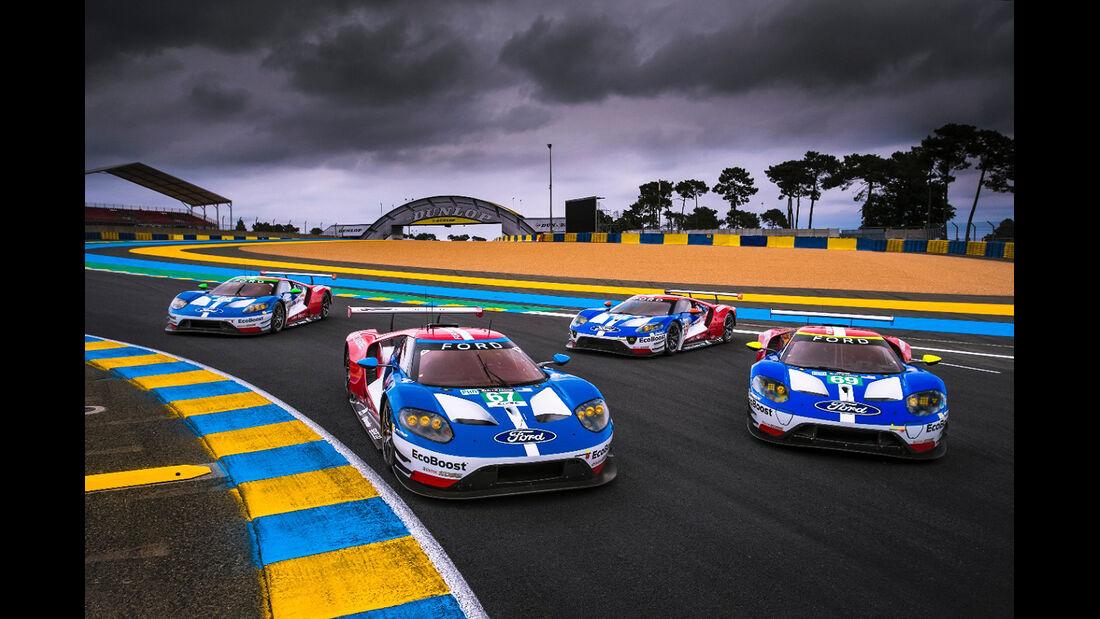Ford GT Rennwagen Le Mans 2017
