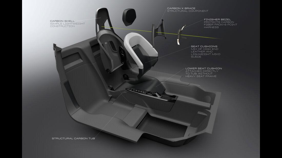 Ford GT - Supersportwagen - Entwicklung - Cockpit - Sitze
