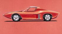 Ford GT40 erste Skizzen