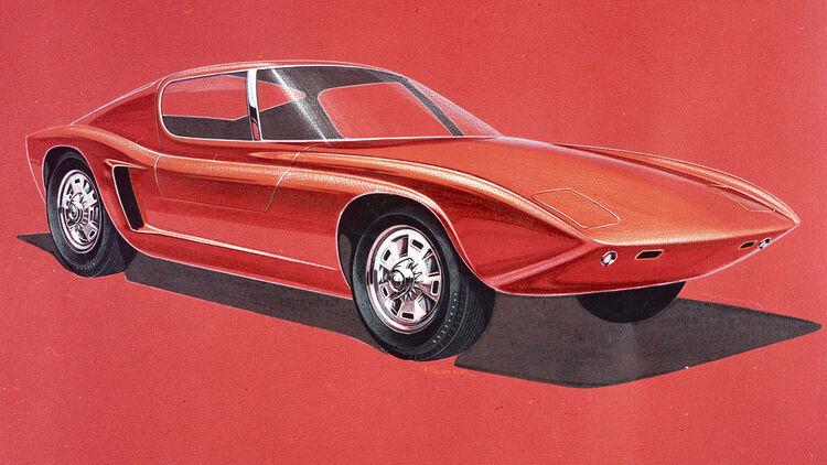 Ford Gt40 Erste Skizzen Des Ferrari Killers Aufgetaucht Auto Motor Und Sport