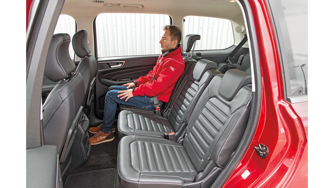 Ford Galaxy 1.5 Ecoboost, Fondsitze