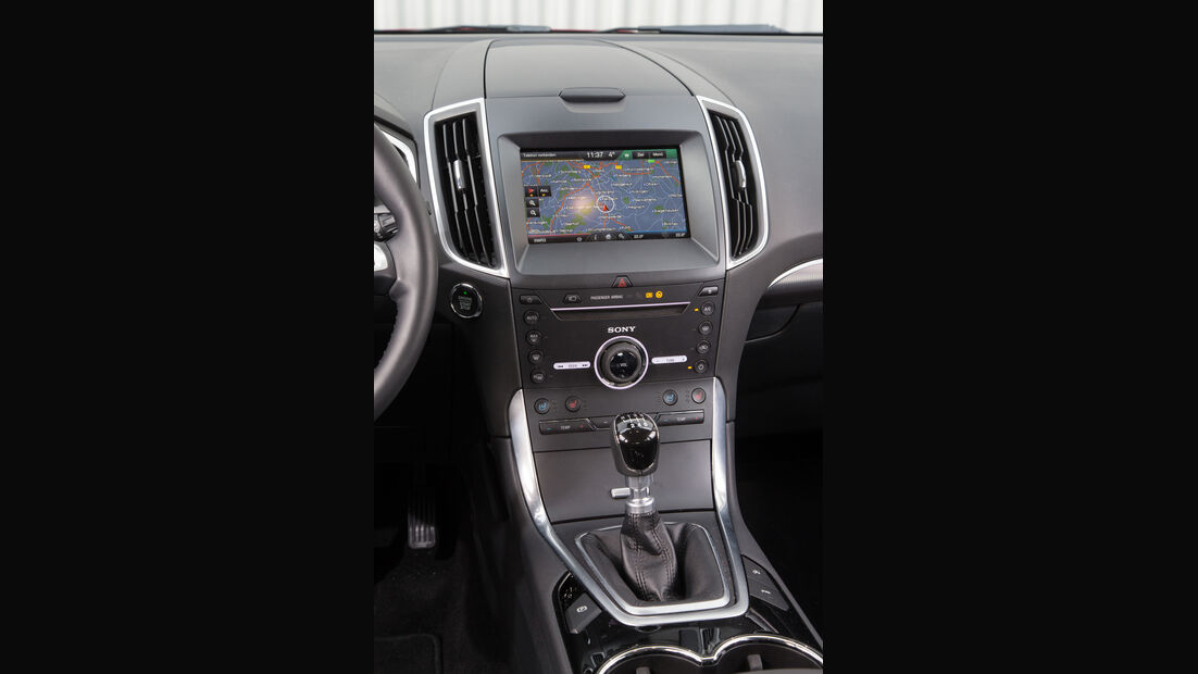 Ford Galaxy 1.5 Ecoboost, Mittelkonsole
