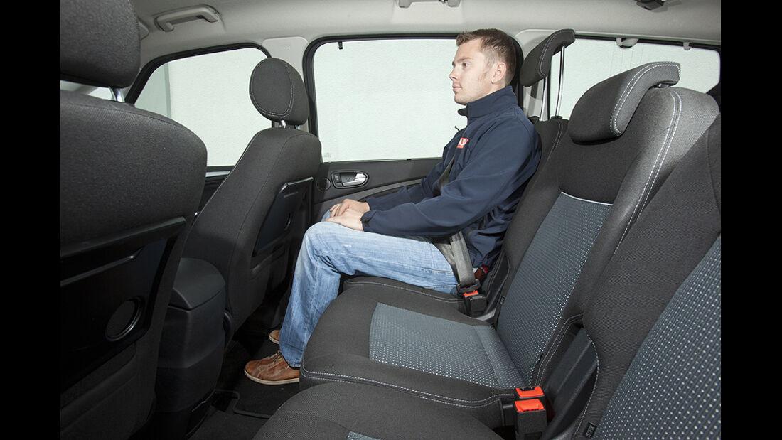Ford Galaxy 1.6 TDCi Trend, zweite Sitzreihe