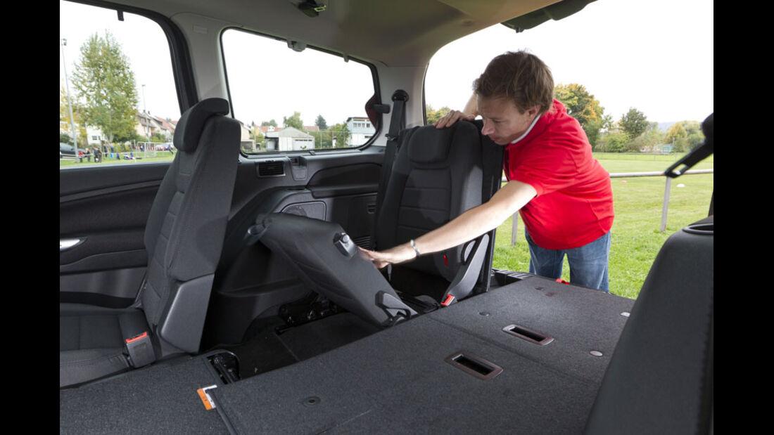 Ford Galaxy, Kofferraum, Fond, dritte Sitzreihe