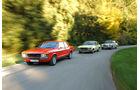 Ford Granada 2.0L V6, Opel Record 2000 Berlina, Mercedes-Benz 230.4,