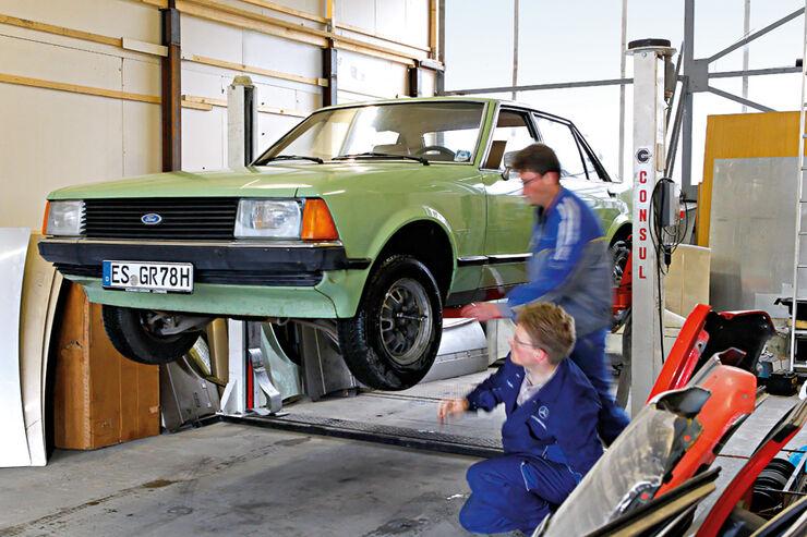 Ford Granada 2.3 L, Hebebühne