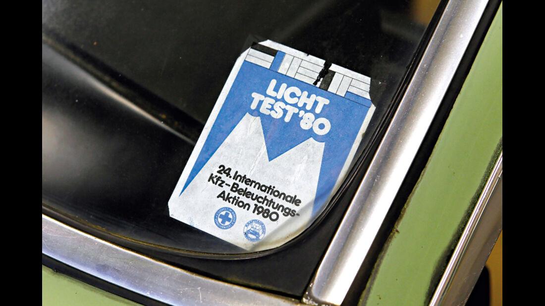 Ford Granada 2.3 L, Lichttest, Aufkleber