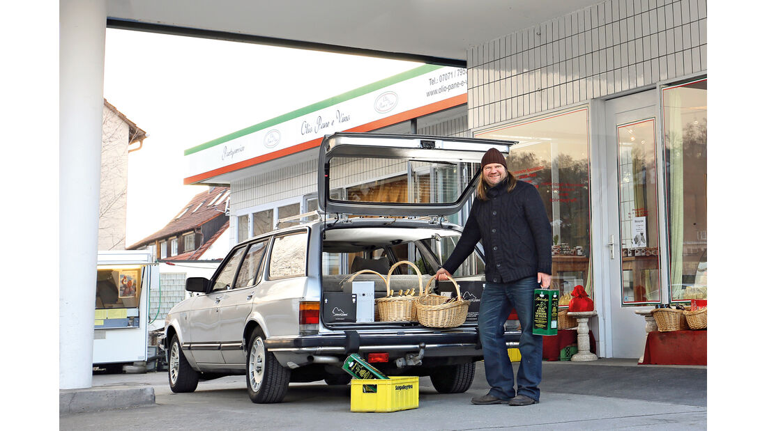 Ford Granada 2.8i Ghia Turnier, Heckklappe, Kofferraum