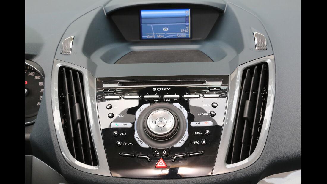 Ford Grand C-Max 1.6 TDCI, Mittelkonsole