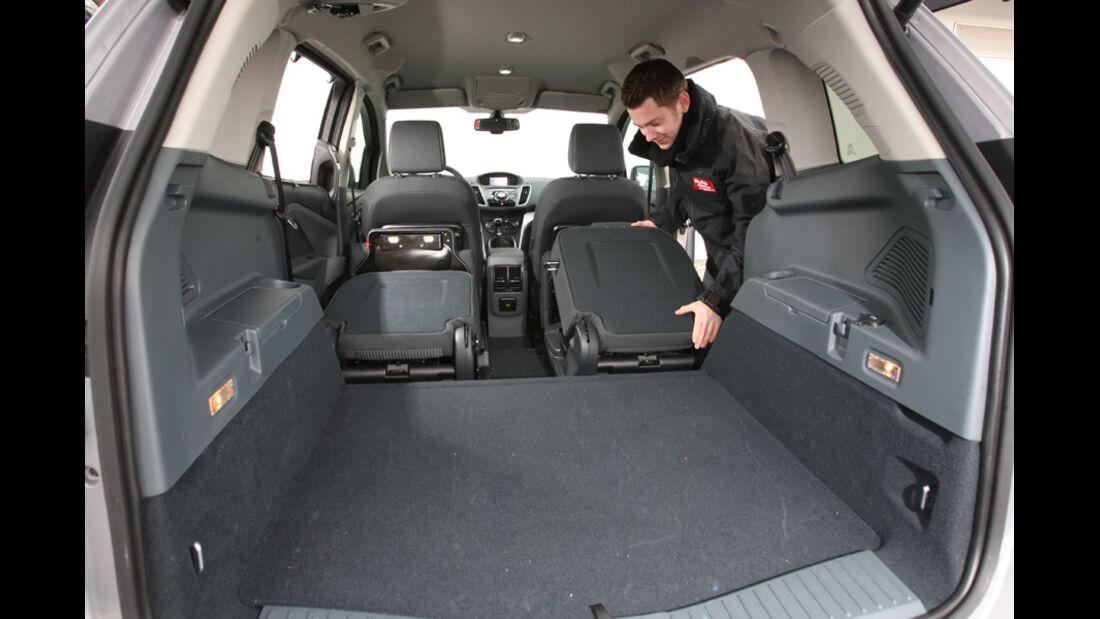 Ford Grand C-Max 2.0 TDCi Titanium, Ladefläche, Kofferraum
