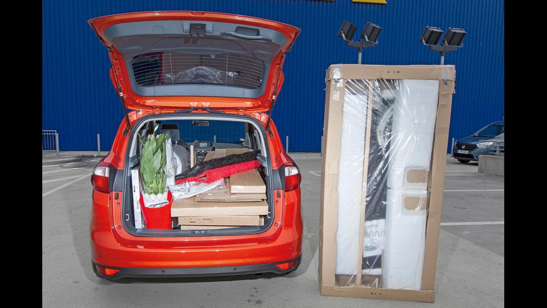 Ford Grand C-Max, Beladung, Überlänge