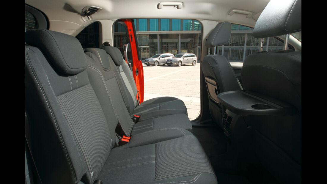 Ford Grand C-Max, Rücksitz, Klapptisch