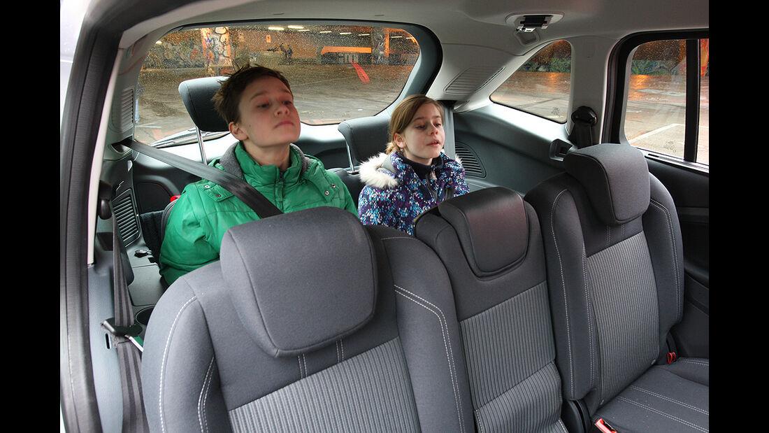 Ford Grand C-Max, dritte Sitzreihe, Innenraum