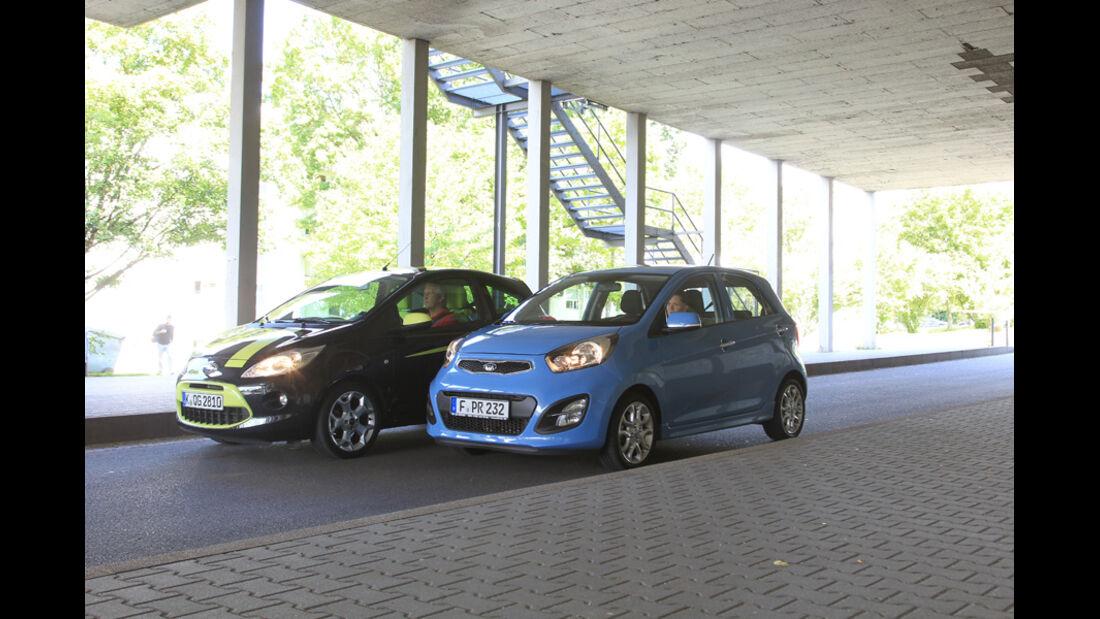 Ford KA Titanium, Kia Picanto ISG Spirit, Front