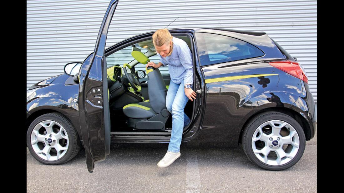 Ford KA Titanium, aussteigen, Rückbank