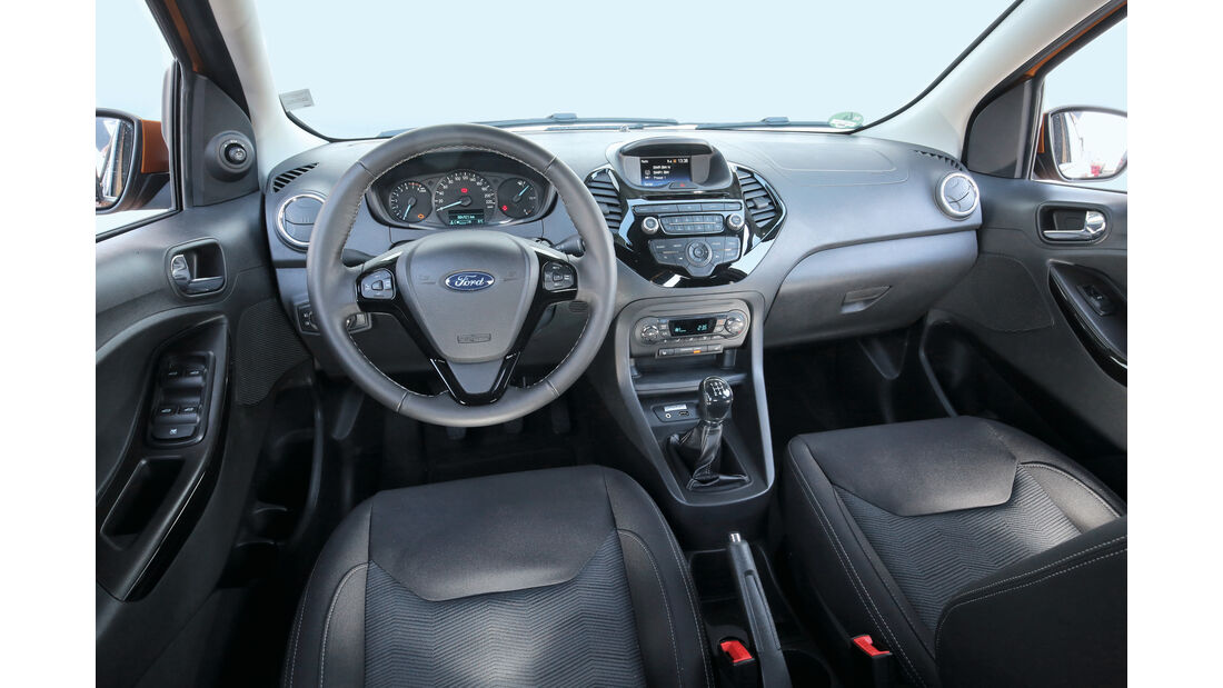 Ford Ka+ 1.2, Cockpit