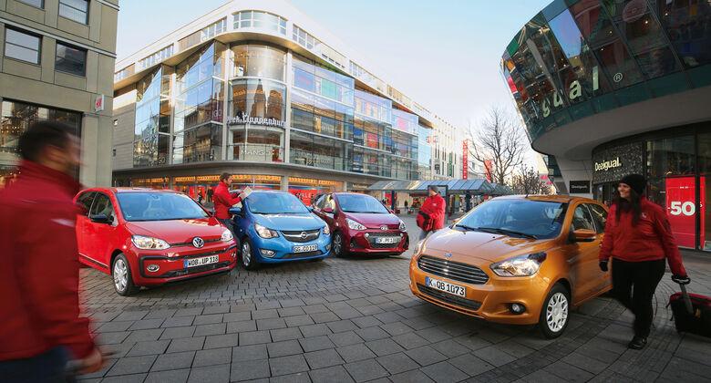 Ford Ka+ 1.2, Hyundai i10 1.2, Opel Karl 1.0, VW Up 1.0 TSI