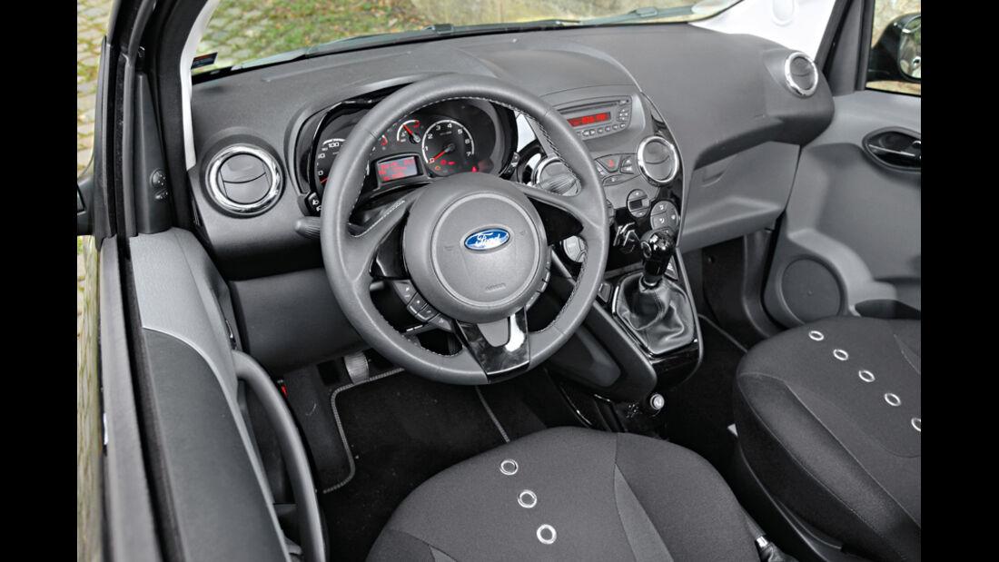 Ford Ka Titanium, Cockpit