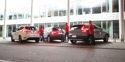 Ford Kuga 1.5 Ecoboost, Skoda Karoq 1.5 TSI Act, Volvo XC40 T3, Exterieur