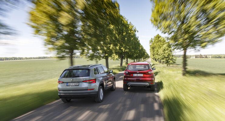 Ford Kuga 2.0 TCCi 4x4 DKG, Skoda Kodiaq 2.0 TDI 4x4 DSG, Exterieur
