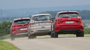 Ford Kuga 2.0 TDCi 4x4, Kia Sportage 2.0 CRDi 4WD, Mazda CX-5 D 175 AWD, Exterieur