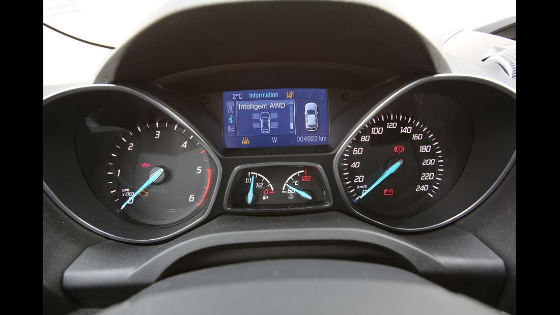 Ford Kuga 2.0 TDCi 4x4, Rundinstrumente, Bildschirm