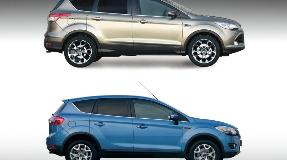 Ford Kuga 2013 neu gegen alt