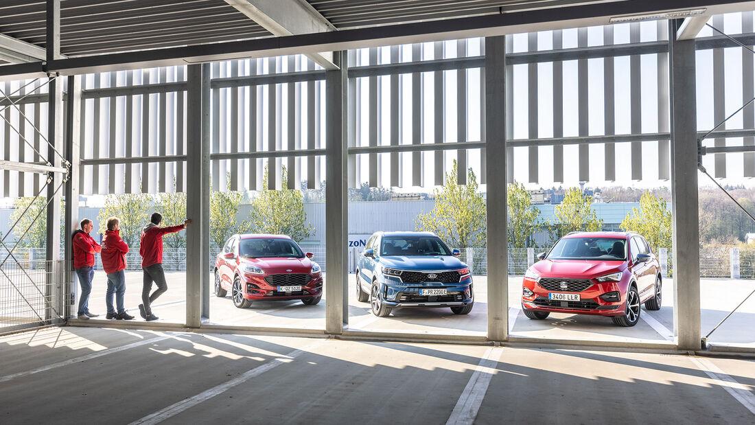 Ford Kuga, Kia Sorento, Seat Tarraco