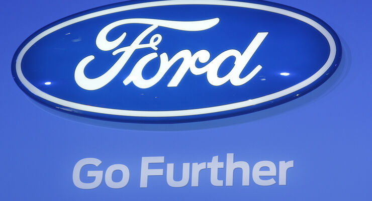 Ford Logo, Messe, Autosalon Paris 2012
