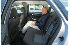 Ford Mondeo, Rücksitz, Beinfreiheit