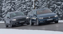 Ford Mondeo Turnier 2.0 TDCI, VW Passat Variant 2.0 TDI, Frontansicht