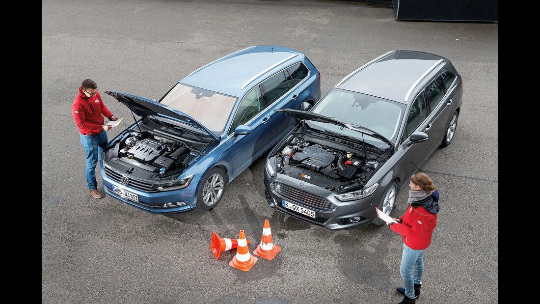 Ford Mondeo Turnier 2.0 TDCI, VW Passat Variant 2.0 TDI, Motor