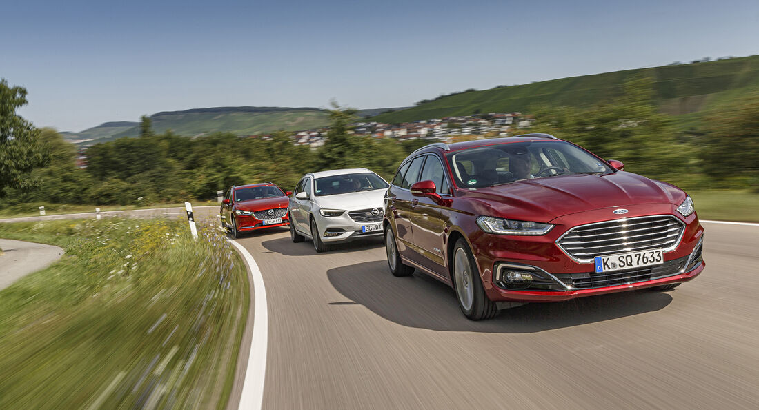 Ford Mondeo Turnier, Mazda 6 Kombi, Opel Insignia ST, Exterieur