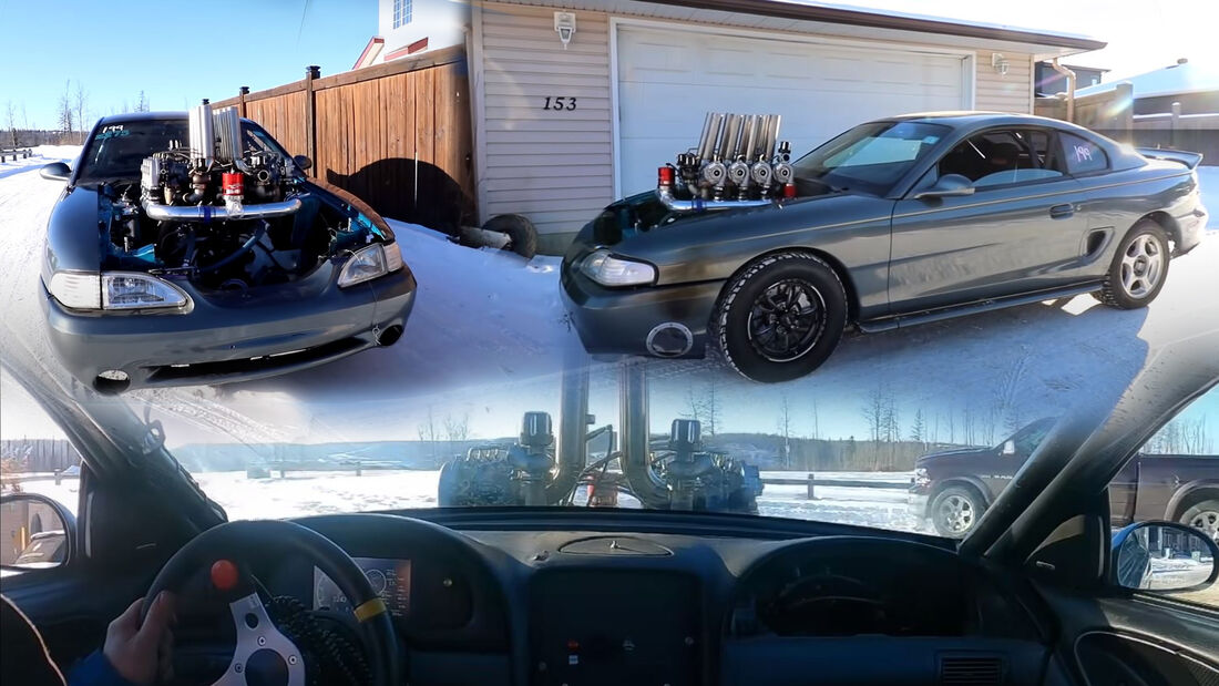 Ford Mustang 1995 Umbau Motor Acht Turbolader