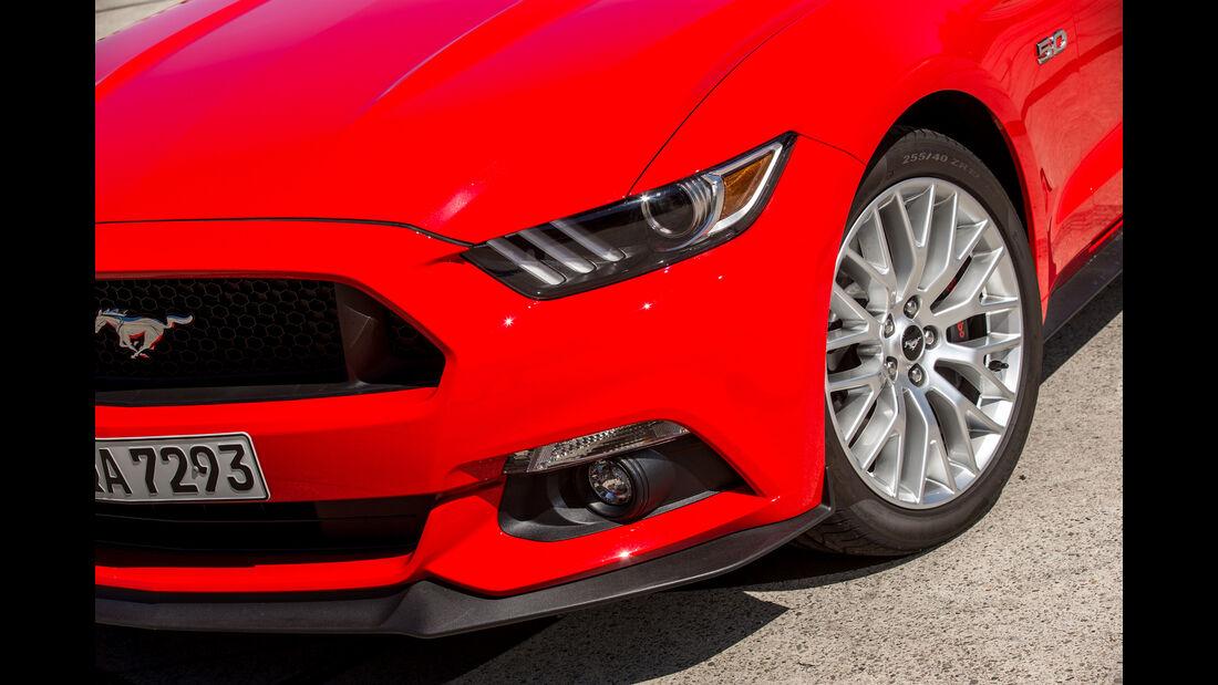 Ford Mustang 5.0 V8, Rad, Felge