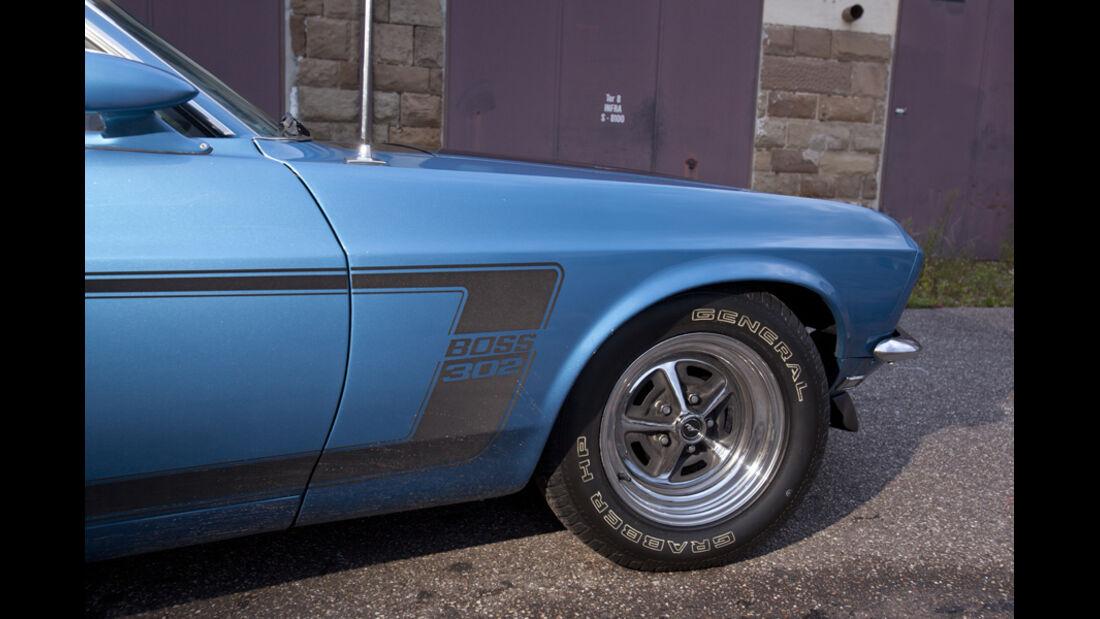 Ford Mustang Boss 302, Vorderrad