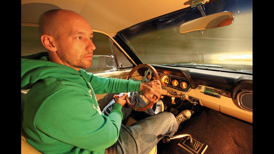 Ford Mustang, Cockpit, Lenkrad, Dani Heyne