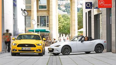Ford Mustang GT 5.0, Mazda MX5 Skyaktiv G 131, Impression