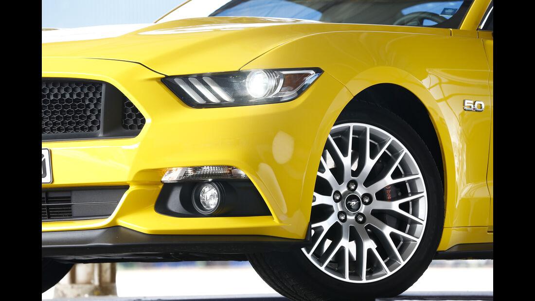 Ford Mustang GT 5.0 Ti-VCT V8, Rad, Felge