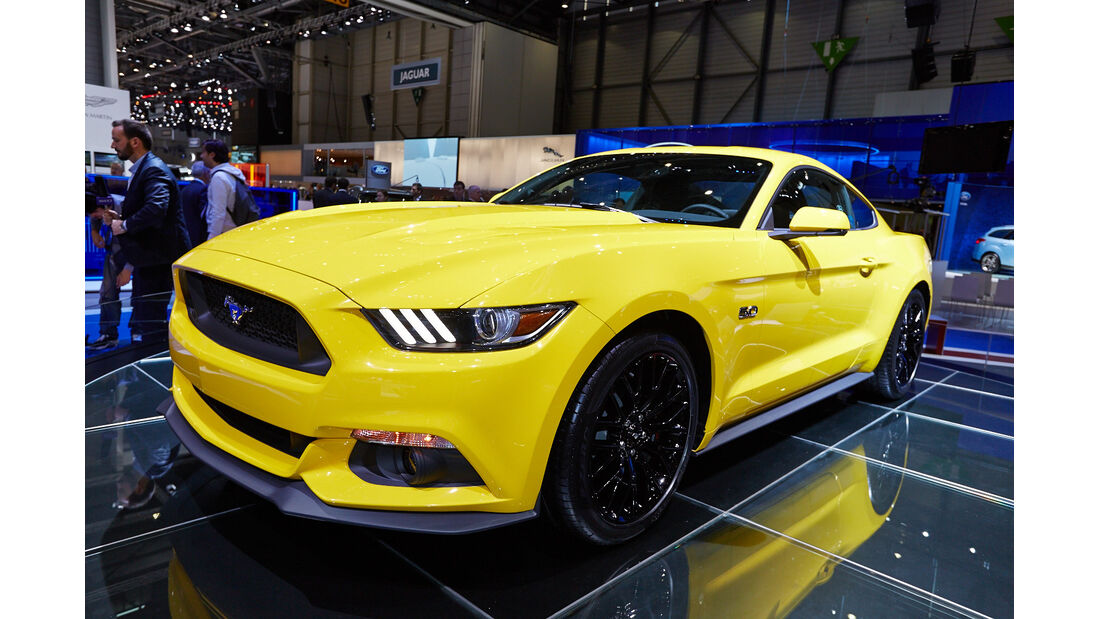 Ford Mustang GT Coupé, Genfer Autosalon, Messe, 2014, Genfer Autosalon, Messe, 2014