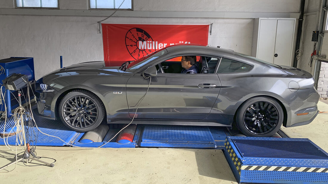 Ford Mustang GT, Leistungsmessung